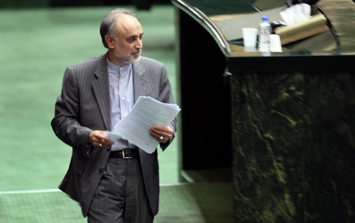 Head of Iran's Atomic Energy Organization, Ali Akbar Salehi.