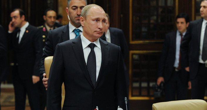 December 1, 2014. Russian President Vladimir Putin takes part in the fifth meeting of the High-Level Russian-Turkish Cooperation Council in Ankara.