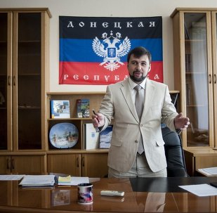 Denis Pushilin, leader of the insurgent Donetsk People's Republic