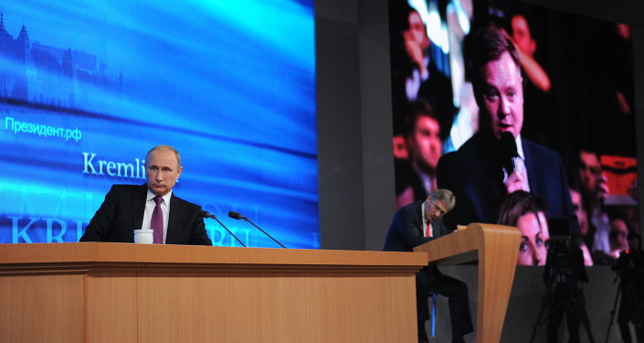 Tenth annual major news conference of Russian President Vladimir Putin
