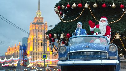 New Year's installations in Moscow