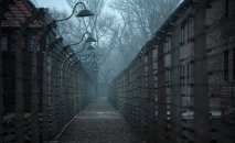 A general view of the former German Nazi concentration and extermination camp Auschwitz in Oswiecim
