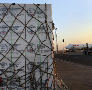Humanitarian aid supplies from USAID