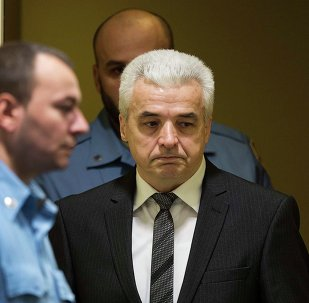Former Bosnian Serb Security Chief, Drago Nikolic, enters the courtroom of the International Criminal Tribunal for the former Yugoslavia (ICTY) for an appeals judgement, in The Hague, January 30, 2015.