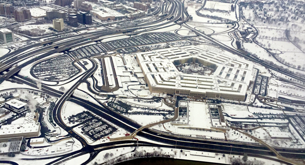 This January 6, 2015 aerial photo shows the Pentagon building in Washington, DC
