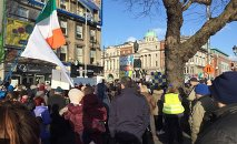 Several thousand protestors now on the streets of Dublin in the latest anti-water charges demonstration.