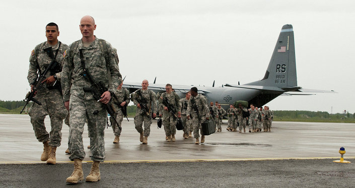U.S. Paratroopers arrive in Estonia for NATO training