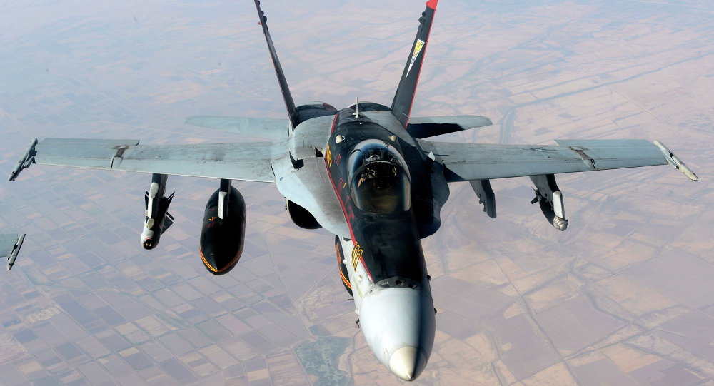 US warships joined Saudi fighter jets in the airstrikes against Houthi rebels in Sanaa on Monday