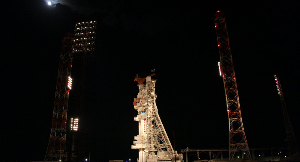 Russia's Proton-M rocket with the Express-AM4 satellite