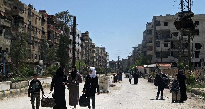 Yarmouk refugee camp in Damascus