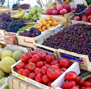 Greek fruit and vegetables market