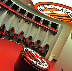 Empty AC Milan locker room