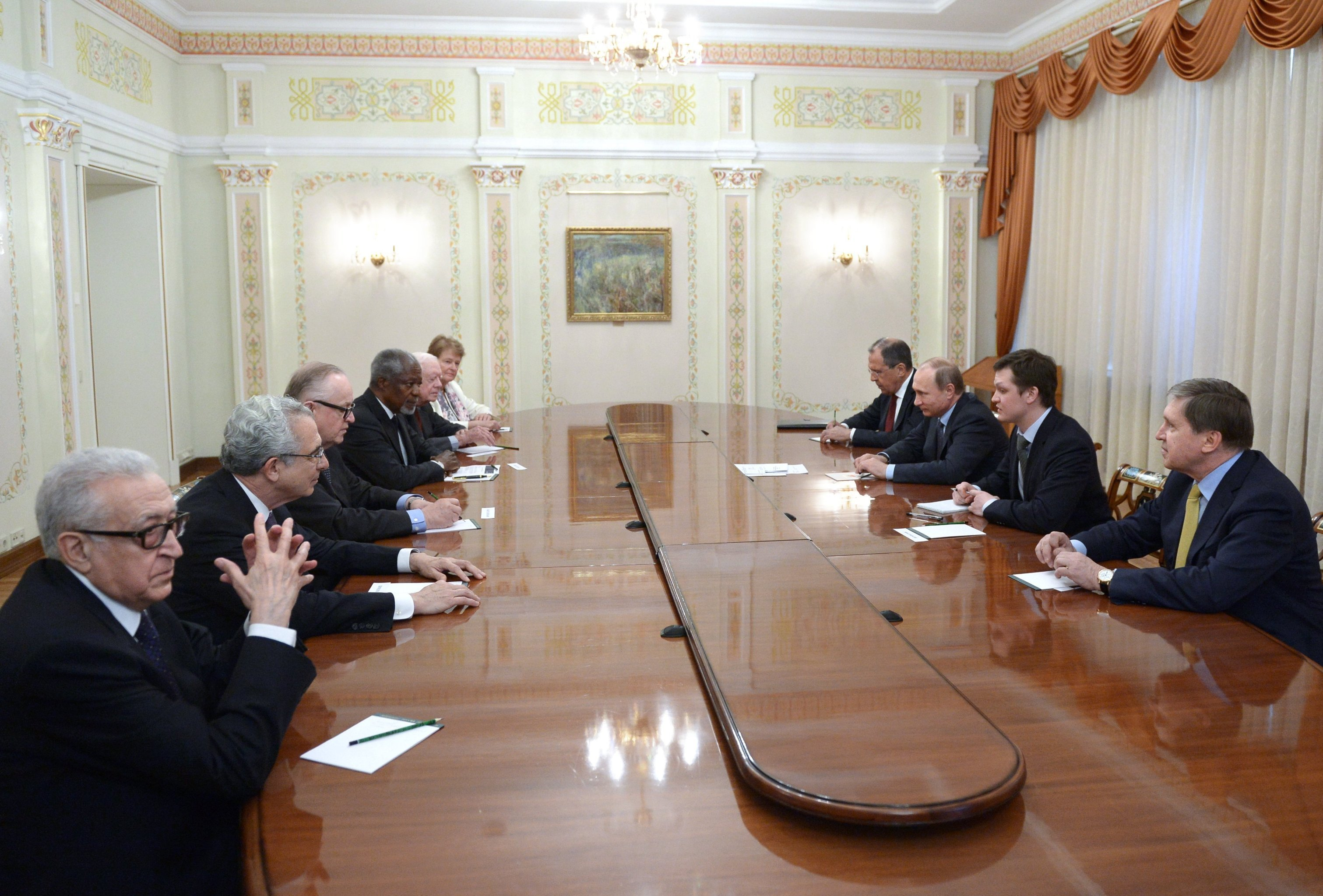 Vladimir Putin meets with members of The Elders