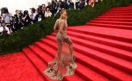 "Beyonce arrives at the 2015 Metropolitan Museum of Art's Costume Institute Gala benefit in honor of the museum's latest exhibit ""China: Through the Looking Glass"" May 4, 2015 in New York"