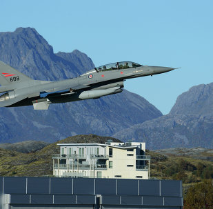 A Royal Norwegian Air Force F-16 Fighting Falcon aircraft