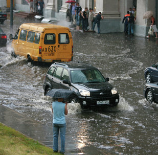 Torrential rain in Moscow. File photo