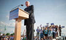 Sen. Bernie Sanders, I-Vt., speaks on Tuesday, May 26, 2015 in Burlington, Vt., where he formally announced he will seek the Democratic nomination for president