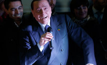Former Italian Prime Minister Silvio Berlusconi accidentally showed up at a campaign rally for a local mayoral race, asked the name of the candidate, and encouraged people to vote for him, all before realizing that he had accidentally come out in support of his party's political opponent, Italian media have reported. Photo: Berlusconi speaking during a Forza Italia party rally in Milan. File photo.