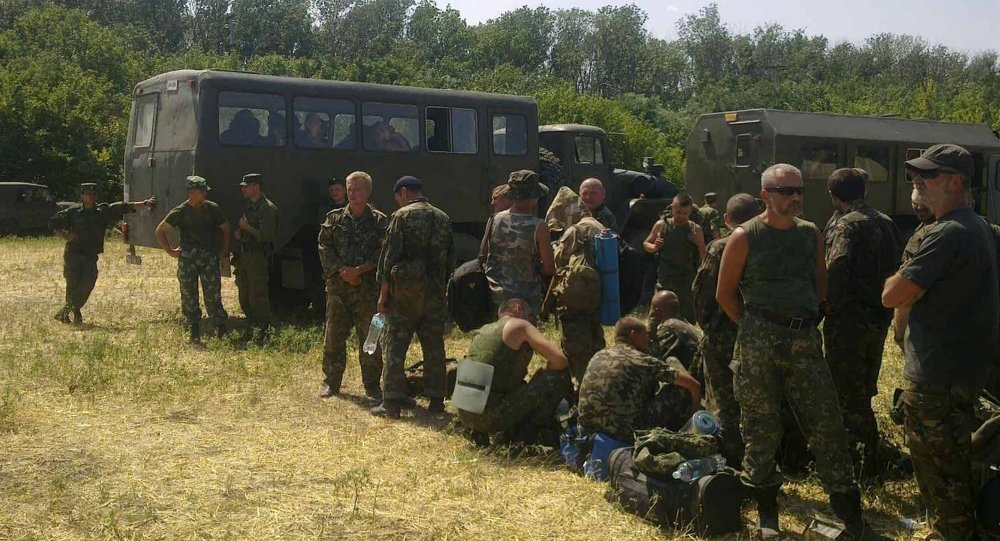 Ukrainian soldiers in Rostov Region. A mobile phone image.