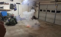 Some men wanted to throw an extreme party and started a fireworks show right in a garage.