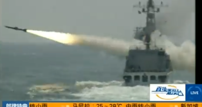 Launch of YJ-18 missile