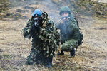 Exercises of  Russian airborne troops