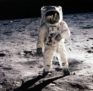 This picture taken 21 July 1969 of astronaut Edwin E. Aldrin Jr. walking on the surface of the moon near the leg of the Lunar Module (ML) Eagle and astronaut Neil Armstrong, during the Apollo 11 extravehicular activity (EVA). NASA no longer knows the whereabouts of the original tapes of man's first landing on the moon nearly 40 years ago, an official of the US space agency said 15 August 2006