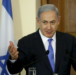 Israeli Prime Minister Benjamin Netanyahu speaks during a news conference at the presidential palace in capital Nicosia, Cyprus, July 28, 2015.