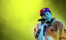 Limp Bizkit's vocalist Fred Durst during the concert at Stadium Live