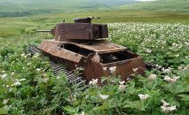 Shinhoto Chi-Ha medium tank on Shumshu island