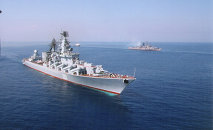 The Moskva missile cruiser of the Guards