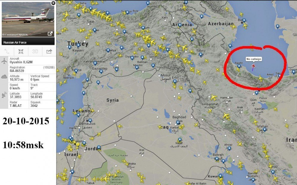 Assad's likely flight route from Syria to Russia