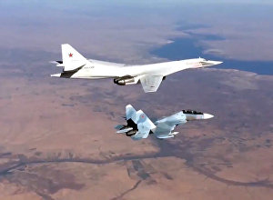Russian Air Force's long-range aircraft hit ISIS targets in Syria