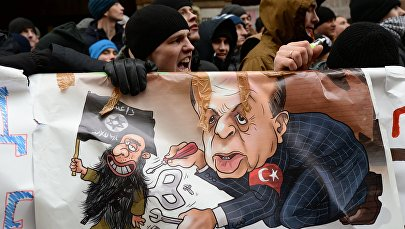 'Turkey Is a Terrorists' Ally': Protests in Moscow After Downing of Su-24