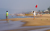 A beach in the Indian state of Goa