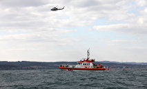 A Turkish coastguard boat in Bosphorus Strait. file photo