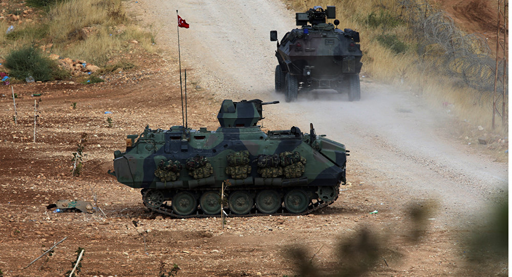 Turkish army's armored vehicles (File)
