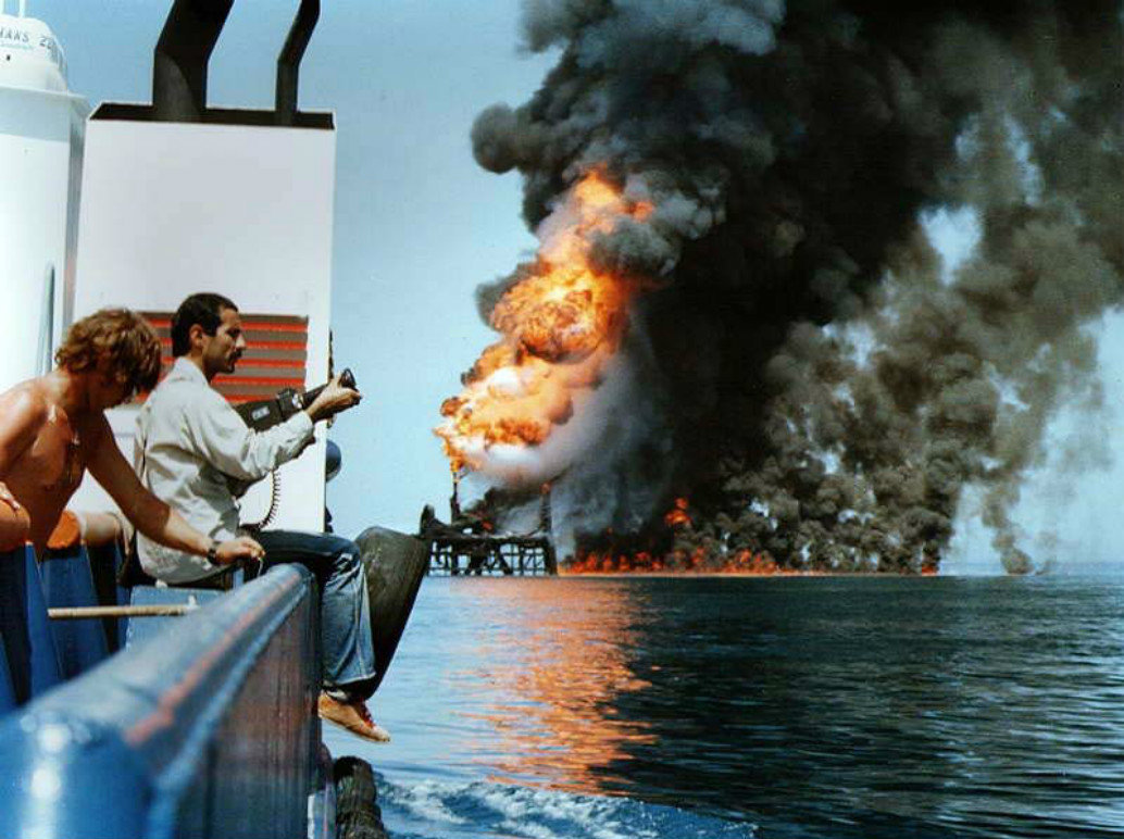 Iran and Iraq targeted each other's oil facilities during the Iran-Iraq War.