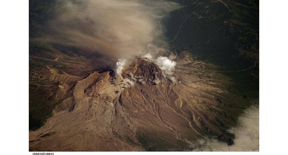 The Shiveluch volcano