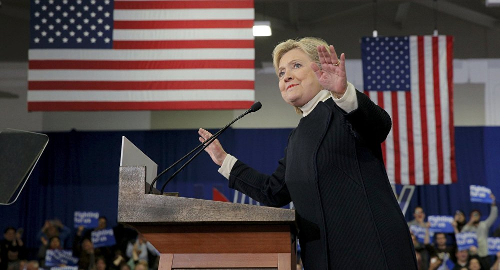 Democratic U.S. presidential candidate Hillary Clinton speaks to supporters at her 2016 New Hampshire presidential primary night rally in Hooksett, New Hampshire February 9, 2016