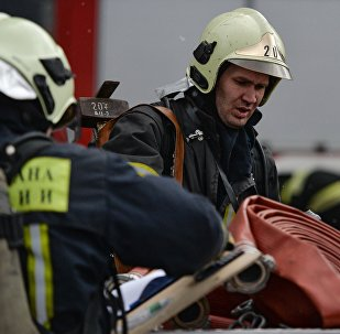 Rescue team workers