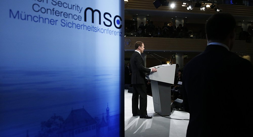 Prime Minister Dmitry Medvedev attends Munich Security Conference