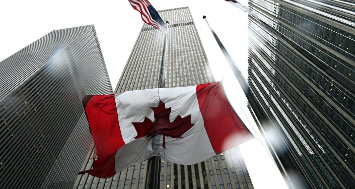 The Canadian flag flies at half-mast at the Consulate General of Canada in New York October 23, 2014