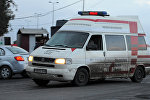 A Syrian red crescent ambulance