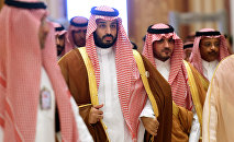 Saudi Defence Minister Mohammed bin Salman (2nd L), who is the desert kingdom's deputy crown prince and second-in-line to the throne, arrives at the closing session of the 4th Summit of Arab States and South American countries held in the Saudi capital Riyadh, on November 11, 2015