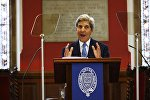 U.S. Secretary of State John Kerry speaks at the Oxford Union in Oxford, Britain May 11, 2016
