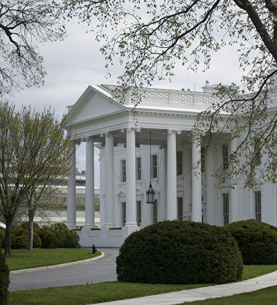 A view of the White House in Washington, DC.