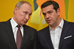 May 27, 2016. Russian President Vladimir Putin during talks with Greek Prime Minister Alexis Tsipras in Athens.