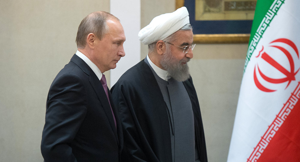 Russian President Vladimir Putin and President of the Islamic Republic of Iran Hassan Rouhani at a news conference following the Russian-Iranian talks in Tehran.file photo