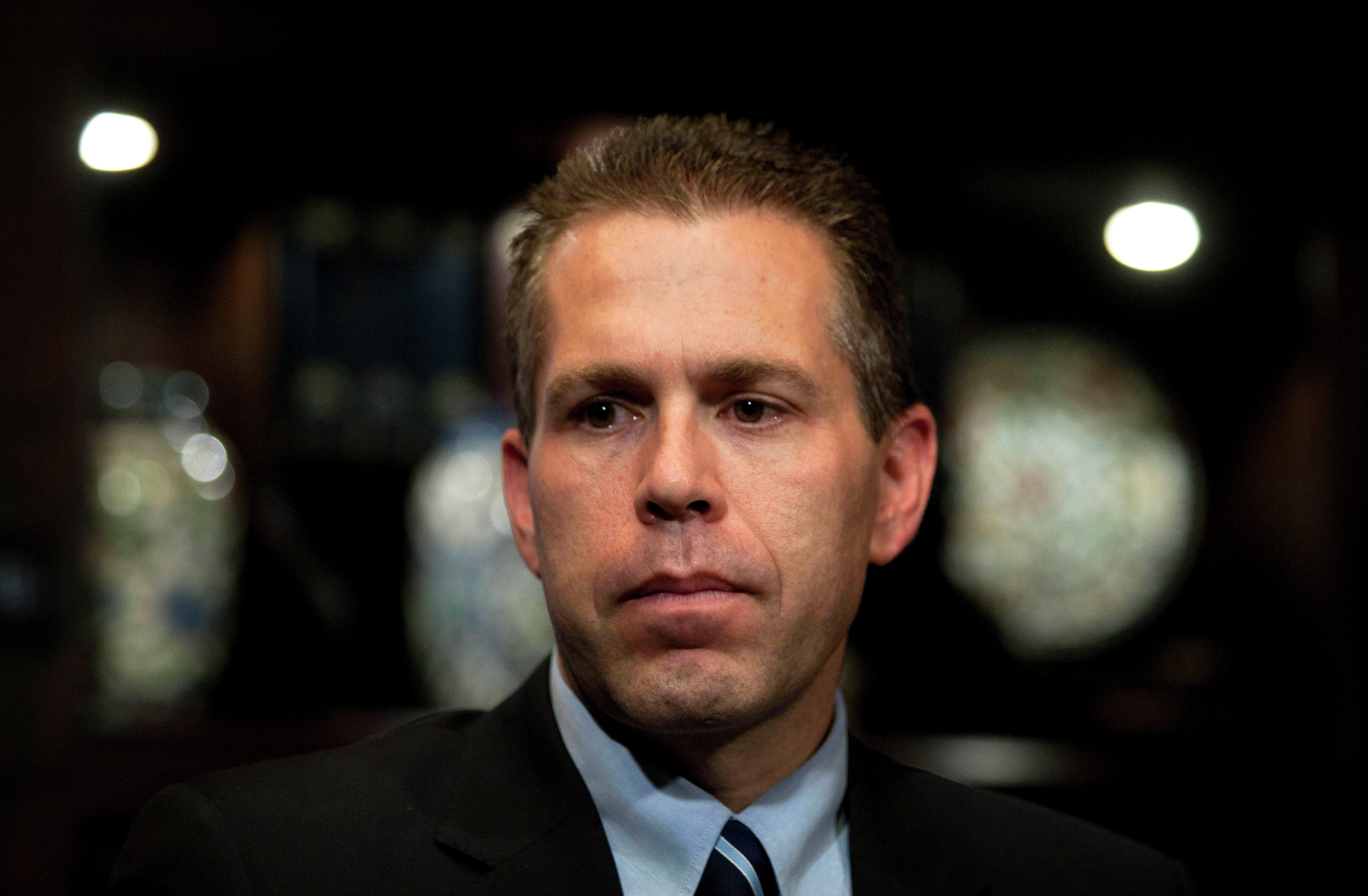 Israeli Cabinet minister Gilad Erdan is seen during an interview with The Associated Press in Jerusalem, Monday, Sept. 12, 2011